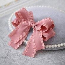 Новые женские милые гофрированные ленты эластичные повязки для волос Лолита повязка резинка для волос модные аксессуары для волос