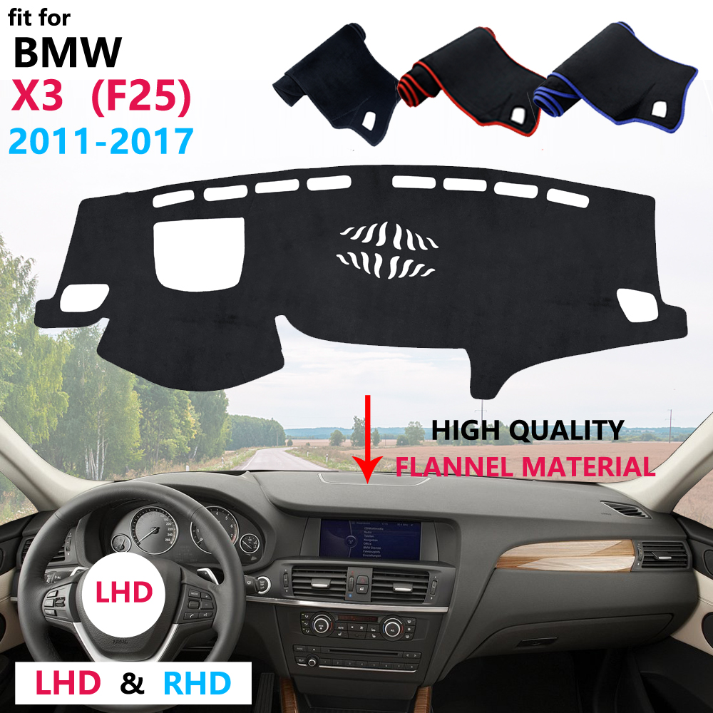 for <font><b>BMW</b></font> <font><b>X3</b></font> F25 2011 2012 2013 2014 2015 2016 <font><b>2017</b></font> Dashboard Cover Protective Pad Carpet Anti-UV Mat Flannel Car <font><b>Accessories</b></font> image