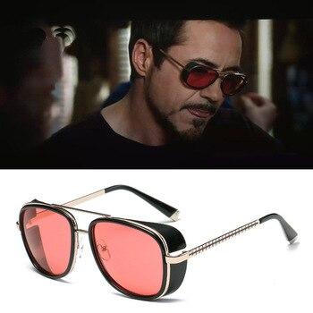 Iron Man-Gafas de sol de diseño Vintage para hombre, lentes de sol unisex con revestimiento de Rossi, estilo retro, con protección UV400, Modelo 3 Matsuda TONY stark 1