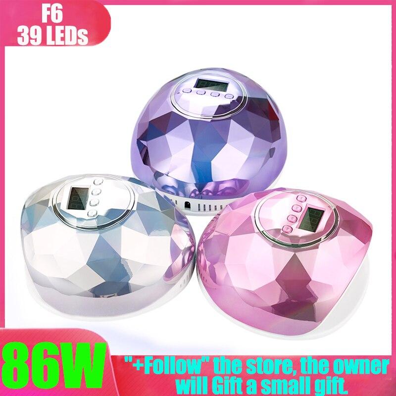 UV Nail Lamp 48W Quick Dry Nail Polish Lamp With Bottom 5/30/60s Timer Led Lamp LCD Display Sun One Lamp Machine Uv