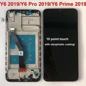 "Image 4 - 6.09 ""AAA Original Für Huawei Y6 Prime 2019 Y6 Pro 2019 Y6 2019 MRD LX1f LCD Display Touchscreen Digitizer montage Replac + Rahmen"
