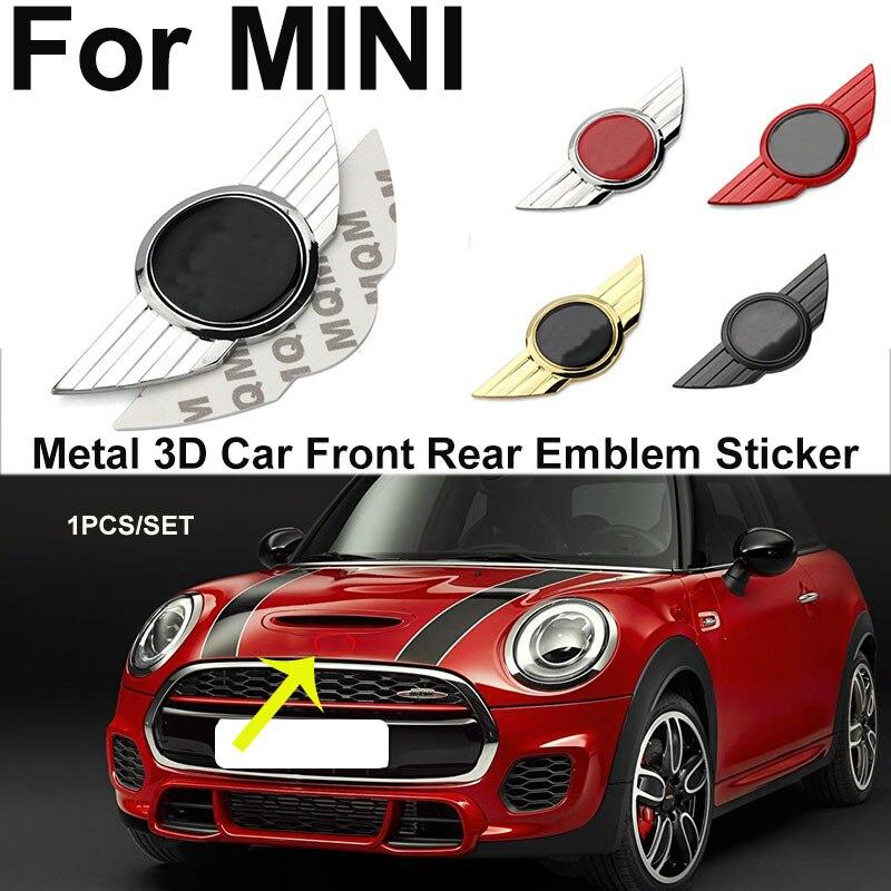 1 шт. металлический 3D наклейки Эмблемы автомобилей автомобиля передняя фара капот задние наклейка для Мини Кабриолет работает черный/золот...