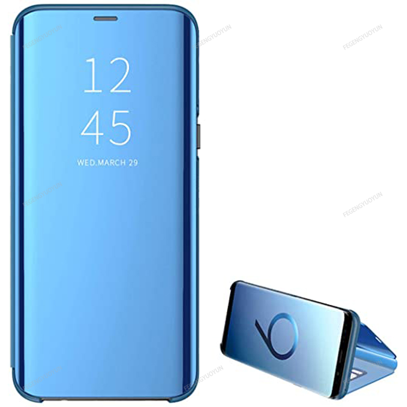 Smart Mirror Phone Case For Samsung Galaxy S20 S10 S9 S8 Plus Note 20 10 9 8 Pro J5 J7 2016 J4 J6 J8 2018 A51 A71 A50 A70 Cover