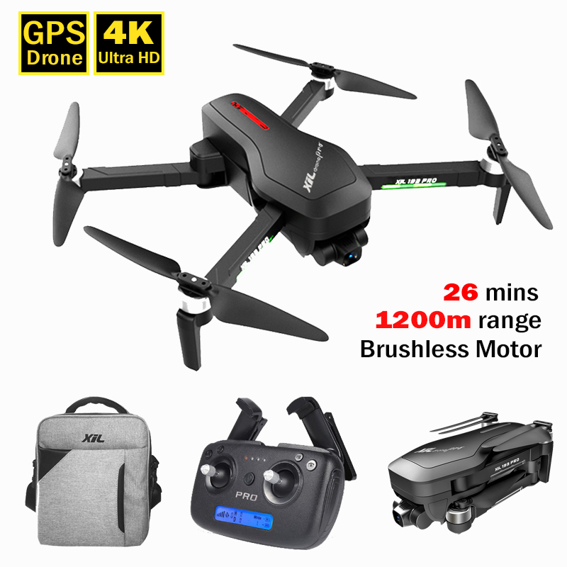 XFor 193pro2 GPS Drone RC Quadcopter with Brushless Motor 4K Camera 5G WIFI Video Live Long Rang 1200 m 1