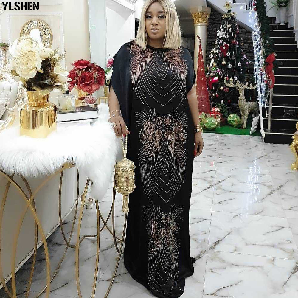 Dashiki Long Maxi Dress African Dresses For Women 2020 Plus Size Summer Dress Bazin Traditional Ladies Clothes African Clothing