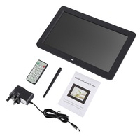 12in HD TFT LED Wide Screen Muitifunctional Digital Picture Frame With Wireless Remote View Pictures Listen to Music
