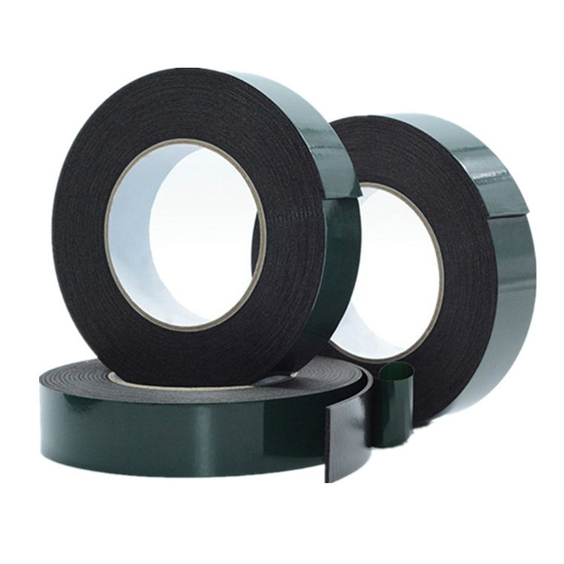 10m Double Sided Tape Strong Adhesive Black Foam Tape Anti-collision Seal Foam Tapes(1mm Thick)