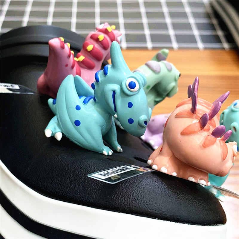 Jedna sprzedaż 1pc dinozaur buty Croc Charms akcesoria do butów Tyrannosaurus/Raptor/Stegosaurus/pterozaur buty oryginalne dekoracje
