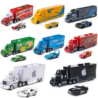 Disney Pixar Cars Chick Hicks Lightning McQueen Uncle Container Truck 1:55 Diecast Metal Modle Toy Children's Boy Birthday Gift