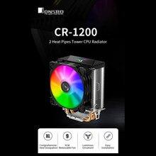 Jonsbo LED CPU radiador ventilador de refrigeración de la CPU 2 tubos de calor Torre ordenador enfriador de CPU CR-1200 para Intel LGA1200/Intel/1151/AMD AM4/FM2 +
