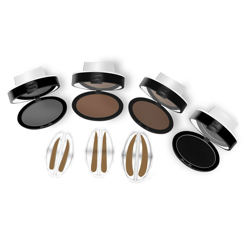 Natural Arched Eyebrow Stamp Brow Stamps Powder Pallette Delicated Beauty Makeup Tool Eyebrow Powder Seal P367