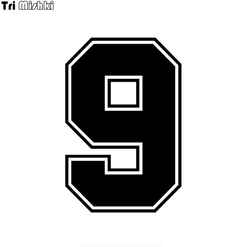Наклейки на шлем с номером 9