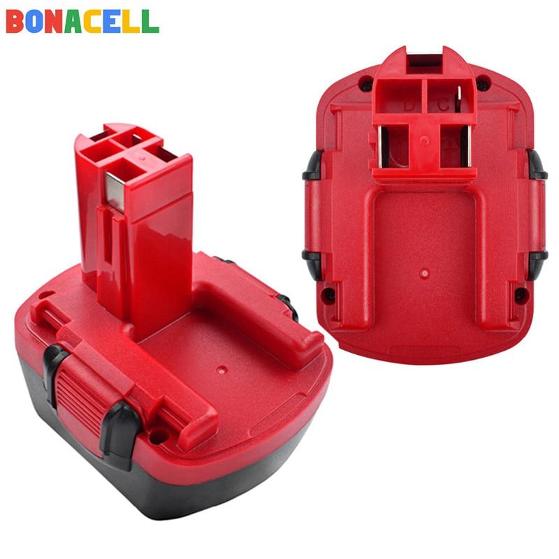 Bonacell 2Pcs 12V 3 0Ah Ni MH Battery for Bosch 12V Drill GSR 12 VE 2 GSB 12 VE 2 PSB 12 VE 2 BAT043 BAT045 BTA120 26073 35430 in Rechargeable Batteries from Consumer Electronics