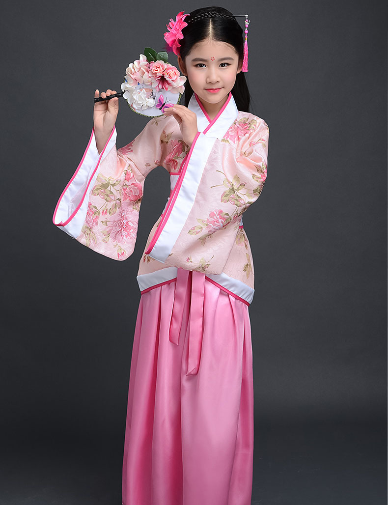 New Arrival Beautiful Chinese National Clothes Girls Vintage Dress Costume  Kids New Years Eve Dresses for Girls Fancy