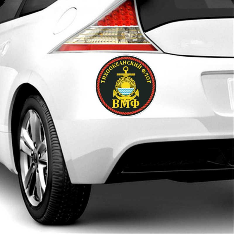 Aliauto สติกเกอร์รถยนต์บุคลิกภาพ Anchor Navy Pacific Fleet อุปกรณ์เสริม PVC รูปลอก Scratch สำหรับ Nissan Juke Logan, 14 ซม.* 14 M