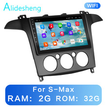 Manual/automático para S MAX s max 2007 2008 2 gb + 32grom 2.5d 2din android 8.1 go car player multimídia gps wifi bt