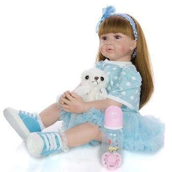 60CM bebes reborn toddler princess girl doll Silicone vinyl adorable Lifelike Baby Bonecas menina realista toy gift dolls