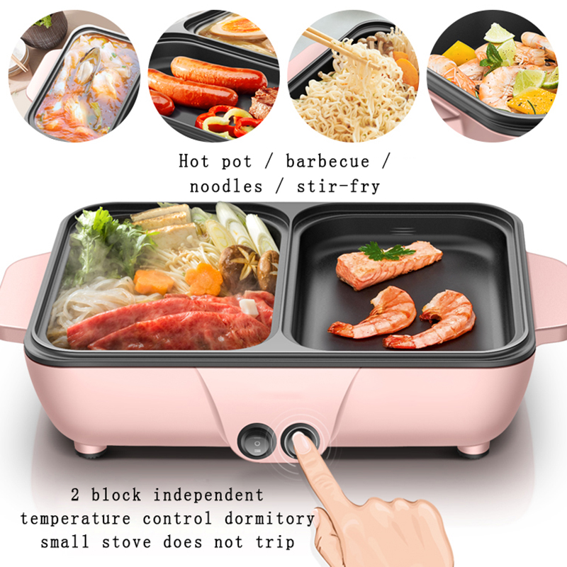 2-in-1 Mini Multi-Function Roasting and Boiling Hot Pot Electric Grill 5