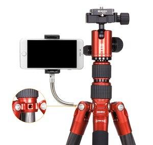 Image 4 - BENRO Trípode De Fibra De Carbono MC09, cámara SLR, micro, soporte único, juego de trípode PTZ portátil de viaje