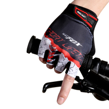 Mens Cycling Gloves Bicycle Outdoor Riding Non-slip Breathable Half Finger Fishing Guantes Ciclismo#DC02