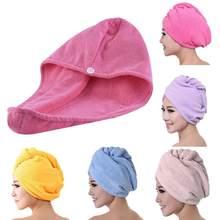 Venda quente mais novo magia microfibra secador de cabelo secagem rápida toalha banho envoltório chapéu tampão rápido turbante seco acessórios do banheiro