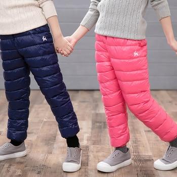 цена Winter Pants For Boy Thicken Pants Girls Leggings Winter Warm Plus Velvet Trousers Warm Corduroy Thick Kids Sport Pants онлайн в 2017 году