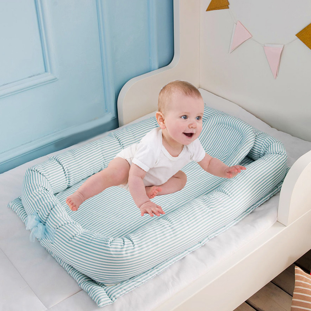 90*50*15cm Baby Nest Bed Portable Crib Travel Bed Infant Toddler Cotton Cradle For Newborn Foldable Child Bassinet Bumper Cribs