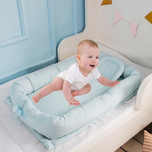Get more info on the 90*50*15cm Baby Nest Bed Portable Crib Travel Bed Infant Toddler Cotton Cradle For Newborn Foldable Baby Bassinet Bumper Cribs
