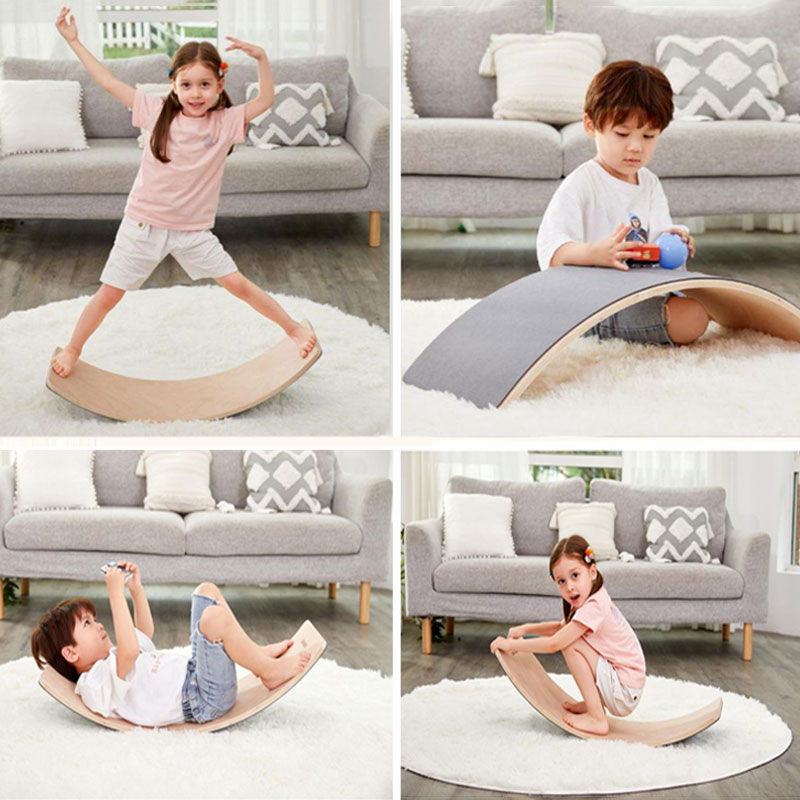 Balance Board Beam Seesaw Wooden Child Kids Exercise Small Size AU Stock