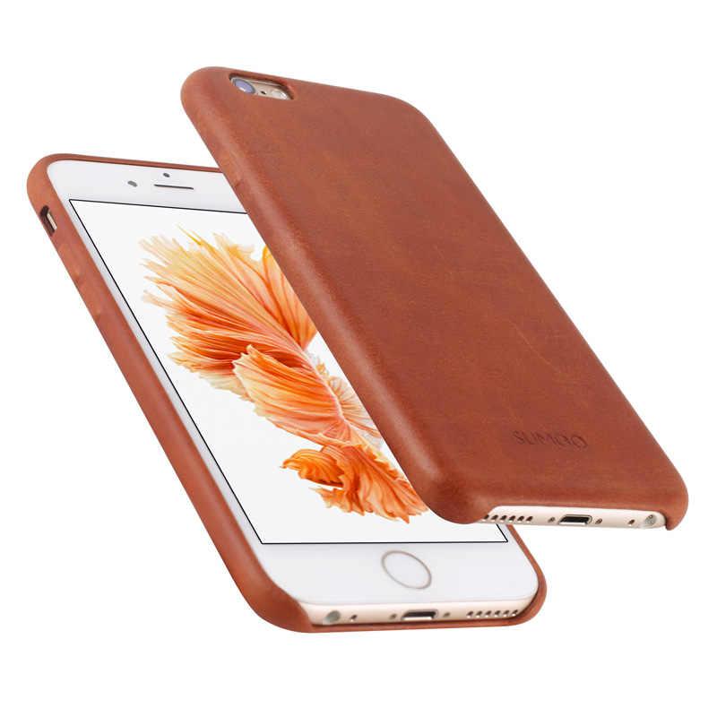Чехол из натуральной кожи для iPhone 7 7 Plus 6s, Модный Роскошный деловой защитный чехол для iPhone 6 6s Plus, задняя крышка