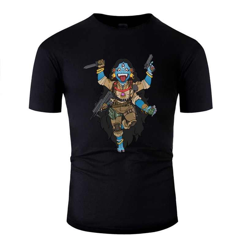 สโลแกน Hindu พระเจ้า Kali-สีดำเทพธิดา TShirt Hipster สีดำผู้ใหญ่เสื้อ T Streetwear POP TOP TEE