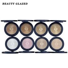 BEAUTY GLAZED Make up 8 Colors Highlighter Palette Makeup Face Contour Powder Bronzer Professional Eyeshadow Palette ePacket