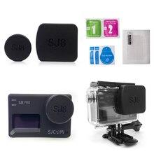 Için SJ8 Pro/Artı/Hava Kamera Lens Kapağı su geçirmez muhafaza Hood Süper HD Ekran koruyucu film için Çerçeve Tutucu SJCAM SJ8 Aksesuarları