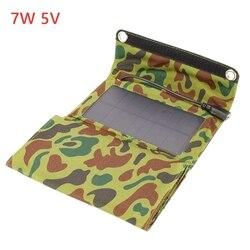 7W 5V przenośne ogniwa słoneczne USB ładowarka składany panel słoneczny źródło zasilania dla telefonów komórkowych GPS aparat cyfrowy PDA