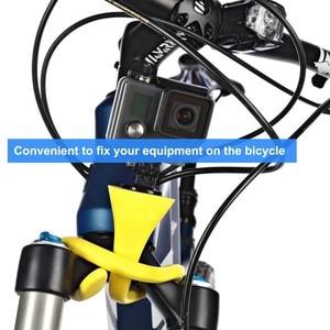 Image 5 - Mini Camera Tripod Mount Banana Pod for Gopro Xiao Mi Yi SJ4000 action camera for iphone7 6s car headrest selfie stick