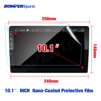 9 10.1 INCH Soft Nano-Coated Screen Protective Film for TEYES CC2 CC2L Spro 2 DIN GPS Car Radio Multimedia Player Navigation image