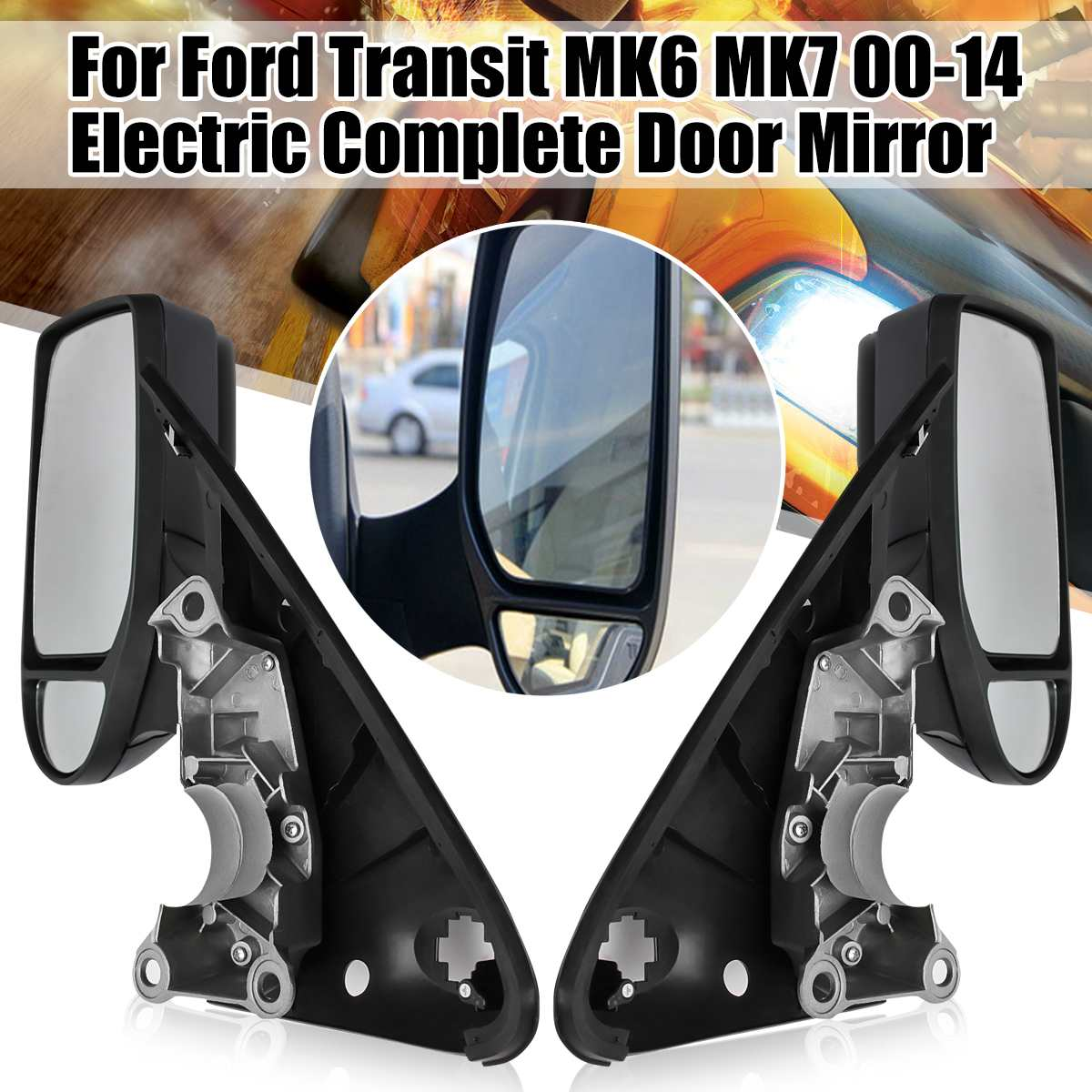COMPLETE DOOR WING MIRROR MANUAL RIGHT DRIVER SIDE FOR FORD TRANSIT MK6 MK7