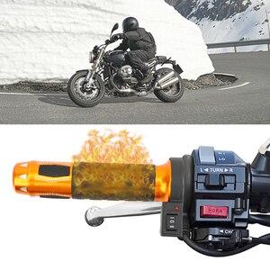 Image 5 - 2 adet motosiklet gidonu elektrikli sıcak ısıtmalı kolu sapları Moto modifiye gidon 22mm motosiklet aksesuarları