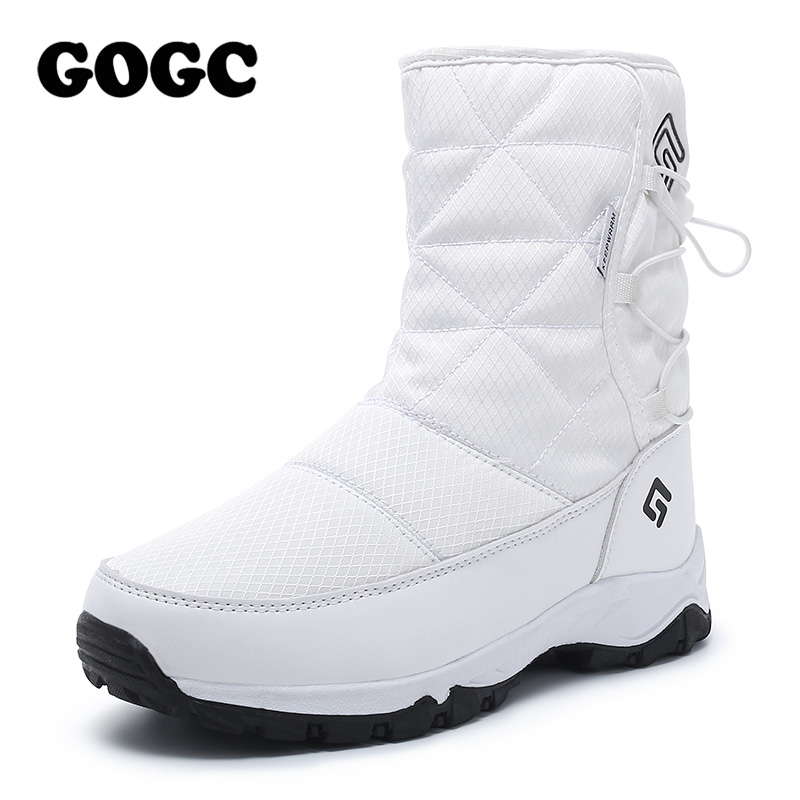 Boots white women boots snow boots woman 1