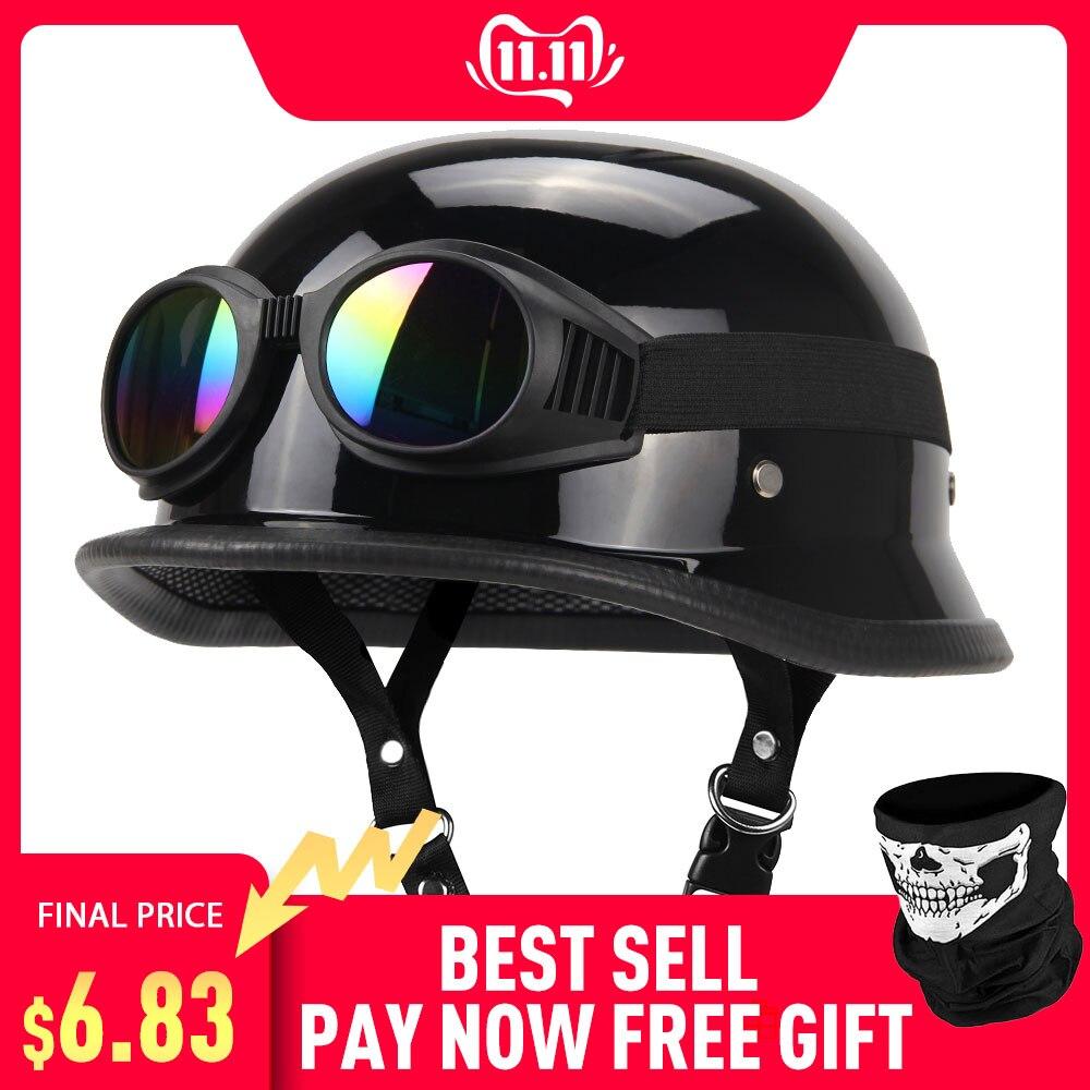 Motorcycle Helmet German Leather…