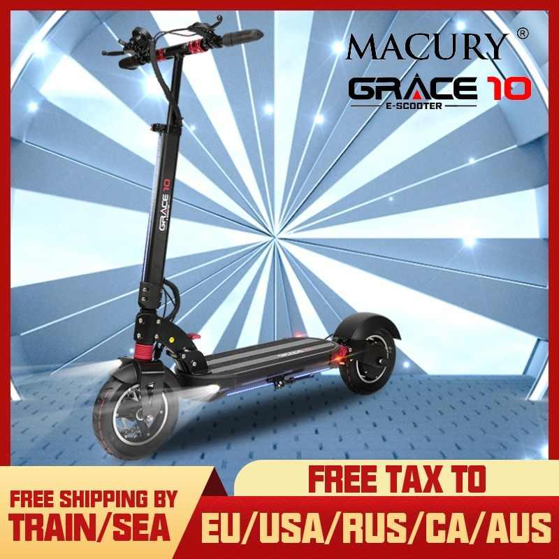 ماكورى جريس 10 سكوتر كهربائي صفر 10 Grace10 Zero10 لوح تزلج هوفر بورد 2 عجلة 10 بوصة 52V1000W موتور الكبار صغيرة قابلة للطي
