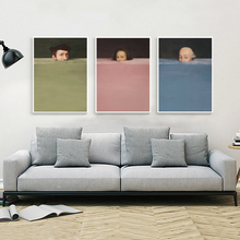 Nordic Abstract Handdraw Character Colorful Canvas Painting Vintage Poster Print Decor Wall Art Pictures For Living Room Bedroom birds abstract nordic wall pictures poster print canvas painting calligraphy decor for living room bedroom home decor frameless