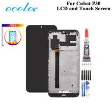 Do wyświetlacza LCD Cubot P30 + ekran dotykowy z ramką 6.3 Cal wymiana zespołu Digitizer do Cubot P30 + narzędzia + klej