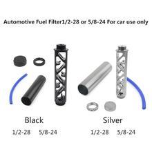 цена на Aluminum Spiral 1/2-28 or 5/8-24 Single Core Car Fuel Filter for NAPA 4003 WIX 24003 OD 1.358