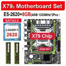 X79 E5-2620 CPU with 2PCS 4GB 1066/8GB REG ECC Ram-M ATX Pci-E-Nvme-M.2 SSD