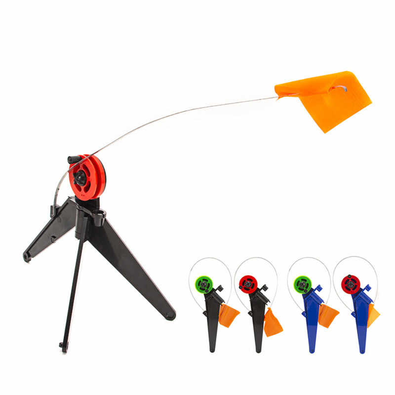Fishing Pole Orange Flag Ice Fishing Rod Fishing Safety Flag Base Mount Angler Tackle Rods Accessory