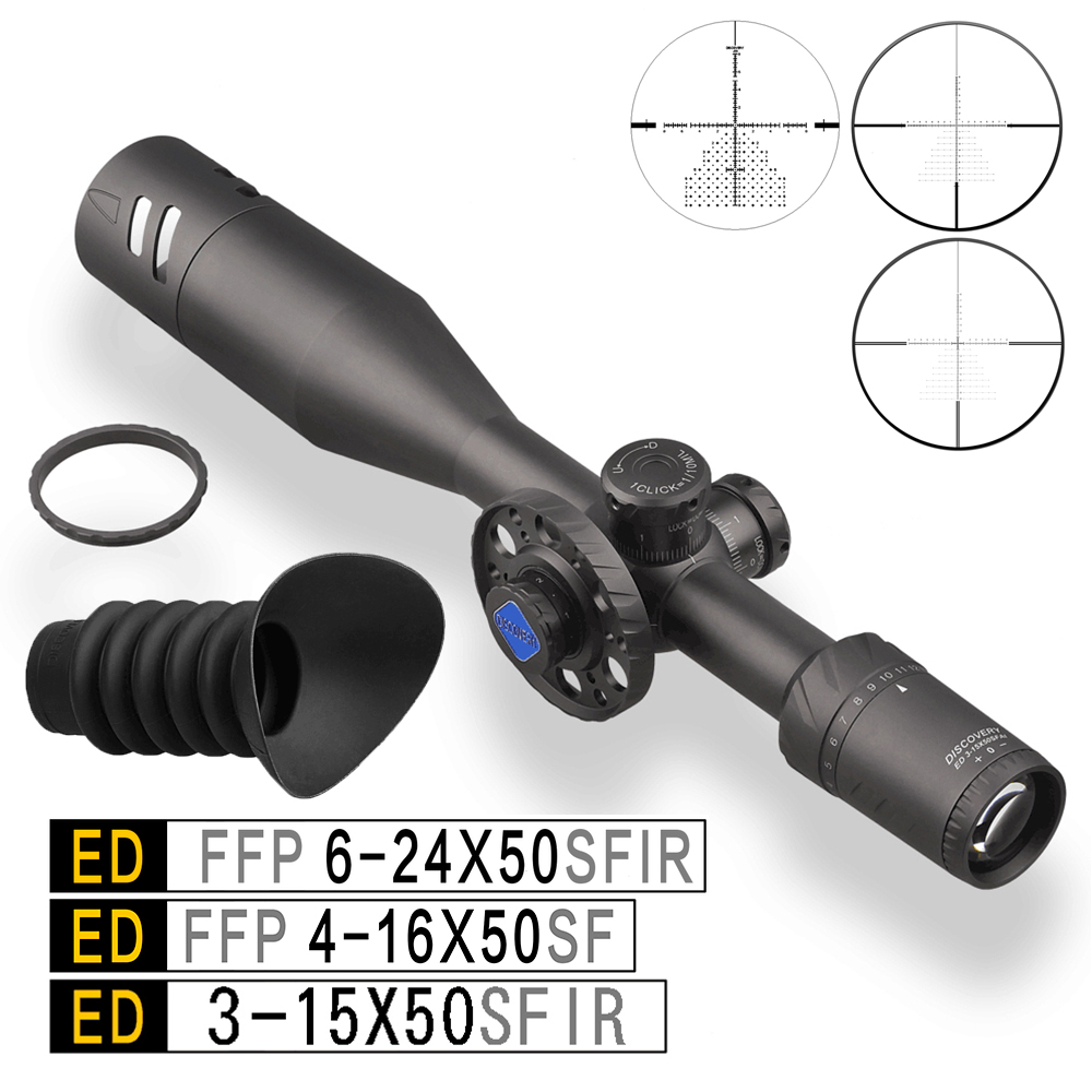 Discovery ED 6-24x50 .50BMG Riflescope Sights Tactical For Air Guns Rifle FFP Scope Sights Optics For Hunting