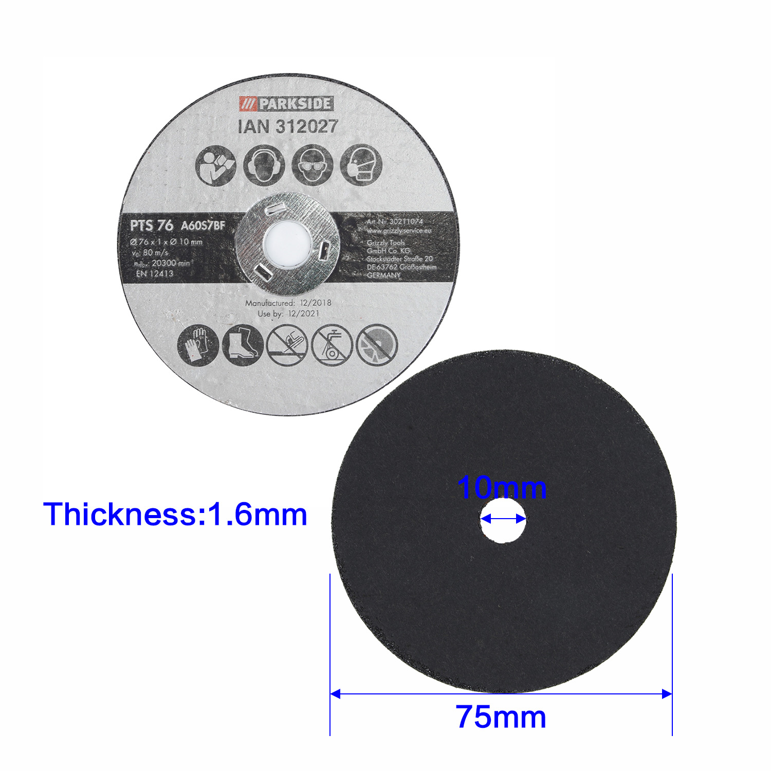 20Pcs 3 75mm Resin Cutting Discs Metal Cut Off Wheel Blade For Angle Grinder