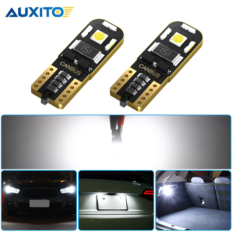 2pcs Canbus T10 <font><b>LED</b></font> W5W 194 Clearance Parking Light Bulb for <font><b>Nissan</b></font> Qashqai J10 J11 Note Tiida <font><b>x</b></font> <font><b>trail</b></font> T31 <font><b>T32</b></font> Juke Leaf Teana image