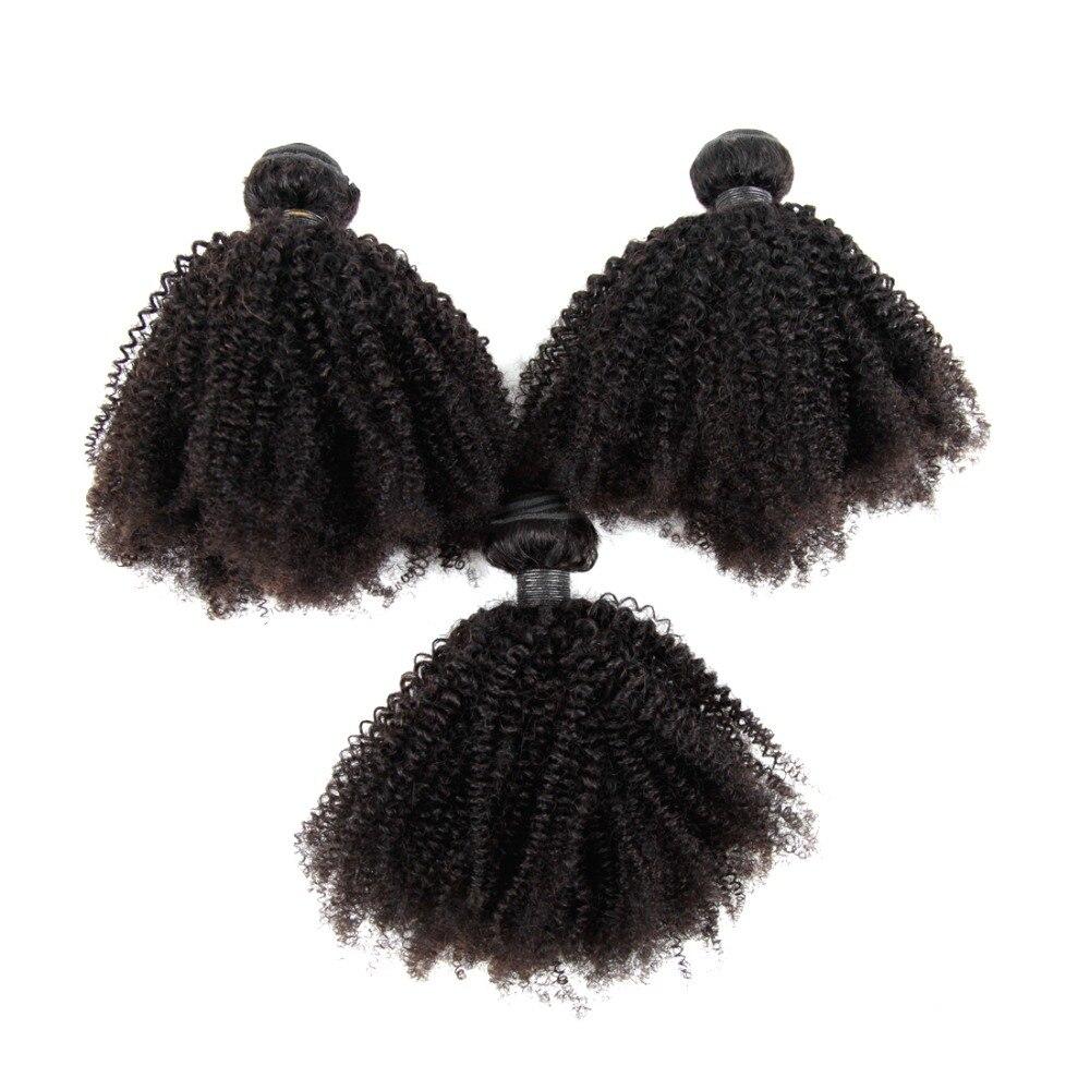 Cabelo malaio feixes de cabelo humano afro